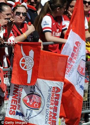 Flag bearers: Arsenal fans